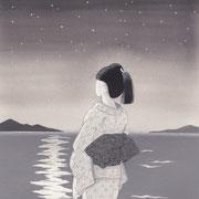 「風かおる」葉室麟・月刊誌扉絵・第11話原画、2015