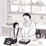 「週刊金曜日」1月10日号掲載・主婦と科学、挿絵 2014