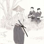 挿絵練習1「白い猫」池波正太郎、2013