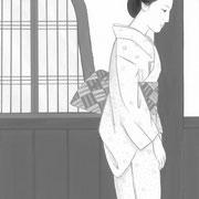 挿絵練習A・「潮騒はるか」葉室麟 2016