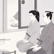 「風かおる」葉室麟・月刊誌扉絵・第2話原画、2014