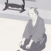 「風かおる」葉室麟・月刊誌扉絵・第8話原画、2014