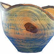 Schale 3: Nußbaum  H: 180 mm, Ø: 220 mm,  Wandstärke: 6 mm