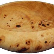 Schale 12: Platane Maser  H: 50 mm,  Ø: 145 mm,  Wandstärke: 4,5 mm