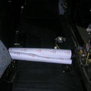 Шумоизоляция Honda Pilot материал Комфорт 10 в полу для лучшего шумопоглощения
