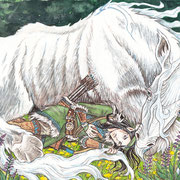 """""""You're Not Alone!"""" (The White Bull)"""