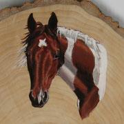 Fie (Pinto). 2015, Acryl auf Holz 18 x 15 cm: VERKAUFT.