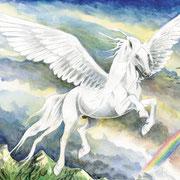 F 16: Pegasus. 2008, Aquarell 40 x 30 cm.