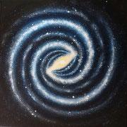 L 17: Das Auge Gottes (Galaxie), 2015, Acryl auf Leinwand, 60 x 60cm.