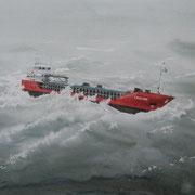 L 15: Sturmwarnung, Trinitas. 2014, Aquarell 40 x 30 cm: 150.- Euro.