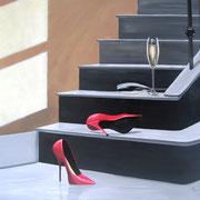 escarpins et champagne