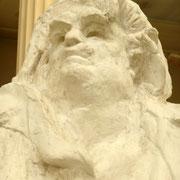 """Finalement, c'est cette tête qui est choisie. Et elle ne ressemble pas du tout à celle du """"buste"""" d'après un portrait de Dévéria"""