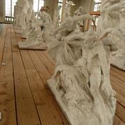 Dernière étude Quasiment rien ne change... sauf... la hauteur de son bras tendu Rodin cherche à introduire plus de mouvement, de dynamisme...