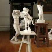 L'atelier d'artiste de la maison est rapidement consacré à un lieu d'exposition des œuvres du maître.