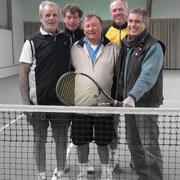 Von links: Wolf Kunze, Norbert Frick, Rainer Link, Gerd Metzker und Hartmut Wildfang