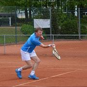 Norbert Müller im Match ....