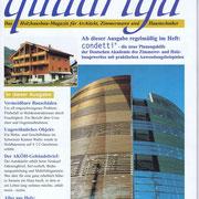 Fachzeitschrift QUADRIGA | Aufzugsschaft aus Holz | Architektur Erik Lorenz