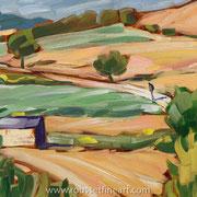 """El Bierzo - oil on free canvas - huile sur toile 41 x 51 cm (16 x 20"""") - 2011 - improvisation"""