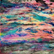 Etude #13 - oil and inks on canvas - huile et encre sur toile 91 x 91 cm - 2016 - Improvisation