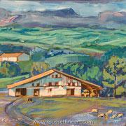"""Etxea #2 - acrylic on canvas - acrylique sur toile 60 x 60 cm (24 x 24"""") - 2015 - impression"""