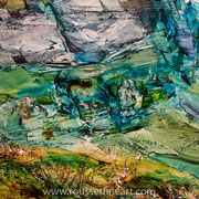 """Forca #1 - oil on canvas - huile sur toile 70 x 100 cm (28 x 39"""") - 2016 - impression"""