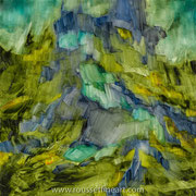 The Mist - oil on canvas - huile sur toile 80 x 80 cm - 31,5 x 31,5 inches - 2018