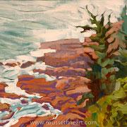 "Acadia #1 - acrylic on canvas - acrylique sur toile 38 x 46 cm (15 x 18"") - 2005 - impression"