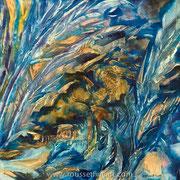 Matter #5 - acrylic inks on canvas - encres acryliques sur toile 50 x 50 cm - 2009 - Impression