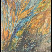 """Coral in a Plastic Bag - oil on canvas - wrapped painting - huile sur toile - peinture bâchée - 153 x 122 cm (60 x 48"""") - 2016 - impression"""