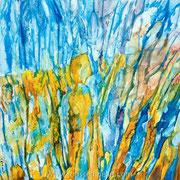 Matter #4 - acrylic inks on canvas - encres acryliques sur toile 50 x 50 cm - 2009 - Impression