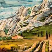 Sainte Victoire - oil on canvas - huile sur toile - 60 x 60 cm - 2018
