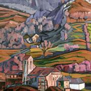 """Sainte-Engrâce #2 - oil on canvas - huile sur toile 116 x 89 cm (46 x 35"""") - 2017 - impression"""