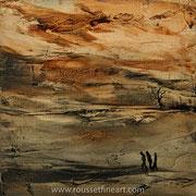 """Etude #14 - oil on canvas - huile sur toile 30 x 30 cm (12 x 12"""") - 2016 - improvisation"""