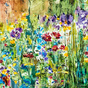 "Valentine - oil on canvas - huile sur toile 50 x 50 cm (20 x 20"") - 2017 - impression"