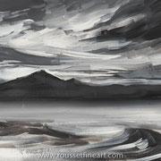 "Storm on the Basque Coast - acrylic on free canvas (sheet) - 40 x 50 cm (16 x 20"") - 2016 - impression"