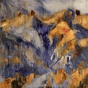 """Two Colors - oil on canvas - huile sur toile 100 x 100 cm (39 x 39"""") - 2018"""