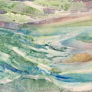 The Wave (Matter #1) - acrylic inks on canvas - encres acryliques sur toile 50 x 75 cm - 2006 - Improvisation