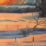 """Vermont - oil on free canvas - huile sur toile 41 x 51 cm ( 16 x 20"""") - 2011 - impression"""