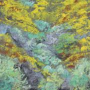 """Osingo #2 - wax on canvas - encaustique sur toile 60 x 60 cm (24 x 24"""") - 2018"""