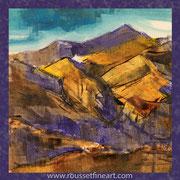 Etude violette - oil on free canvas - huile sur toile libre  - 30 x 30 cm - 2018