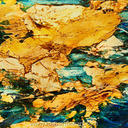 Etude #9 - oil and acrylic inks on wood - huile et encres acryliques sur bois 20 x 25 cm - 2016 - Improvisation