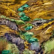 """Osingo - oil on canvas - huile sur toile 60 x 60 cm (24 x 24"""") - 2018"""