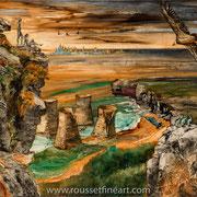 """Dawn - oil on canvas - huile sur toile 122 x 152 cm (48 x 60"""") - 2015 - Composition"""