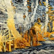 "The Witch's Place (Matter #8) - oil on canvas - huile sur toile 123 x 123 cm (48 x 48"") - 2015 - impression"