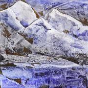 Shishapangma (Etude #4) - acrylic inks on canvas - encres acryliques sur toile 30 x 30 cm - 2010 - Improvisation