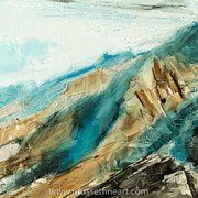 "Promised Land (detail) - oil on canvas - huile sur toile 100 x 100 cm (39 x 39"") - 2017 - impression"