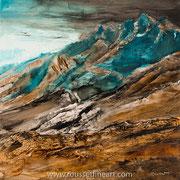 "Promised Land - oil on canvas - huile sur toile 100 x 100 cm (39 x 39"") - 2017 - impression"