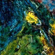 Water Flower - acrylic inks on paper - encres acryliques sur toile 46 x 38 cm - 2005
