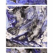 The Ravine - Triptych - acrylic inks on canvas - 105 x 40 cm - 2010 - impressions