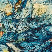 Blue Thought - oil on aluminum - huile sur aluminium - 50 x 60 cm - 2019